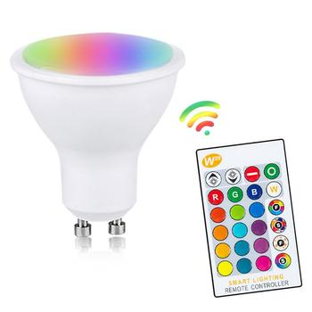 110V E27 RGB LED Bulb Lights 10W RGB Lampada Changeable Colorful RGBW LED Lamp With IR Remote Control+Memory Mode AC85-265V image