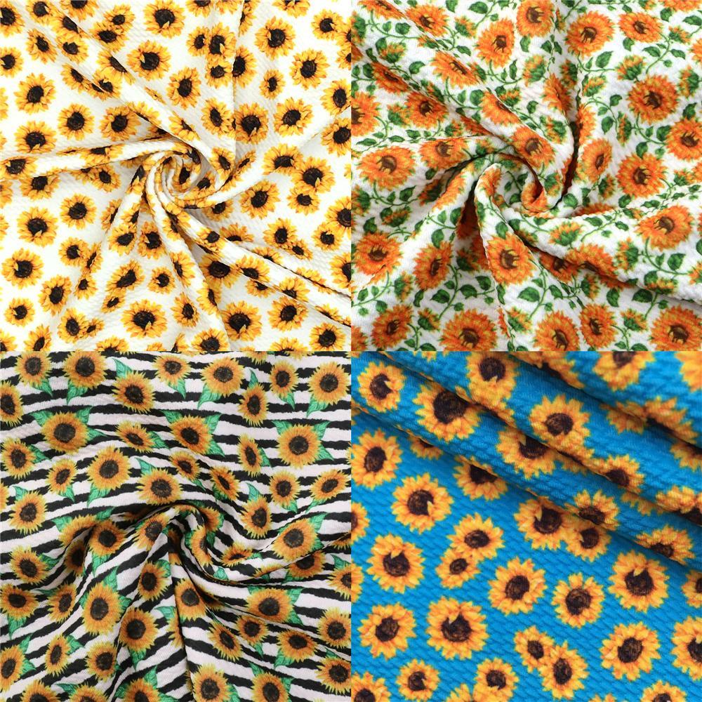 Ткань «Ливерпуль» с принтом весеннего цветка подсолнуха, ткань для шитья, квилтинга, ткань из спандекса, материал для рукоделия «сделай сам...