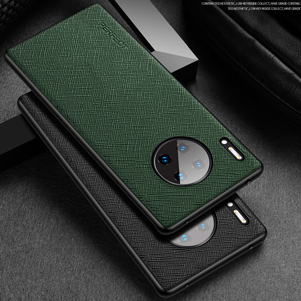 Deluxe Saffiano Leather Back Shell Case For Huawei Mate 30 Pro Mate30 RS Business Matte Frosted Protector Thin Slim Cover