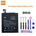 100% оригинальная реальная емкость 4000 мАч мобильный телефон BM46 для Xiaomi Redmi Note 3 Note3 Pro/Prime Hongmi батарея + Бесплатные инструменты