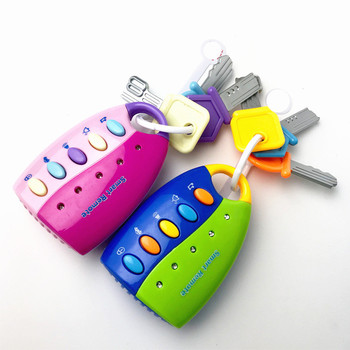 1PC zabawka dla dziecka Musical Car Key Toy wokal inteligentne zdalne głosy udawaj zagraj w edukację muzyczny z oświetleniem samochody edukacyjne zabawki dla dzieci Boy tanie i dobre opinie HARKO CN (pochodzenie) W wieku 0-6m 7-12m 13-24m 25-36m Z tworzywa sztucznego Elektroniczny Model Na baterie 5 zakresów