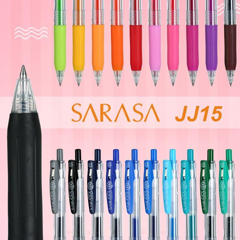 1Pcs  Zebra SARASA Color Gel Gel Pen JJ15-0.5mm 20 Colors Optional Waterproof And Light-resistant Colorful Bright Writing Smooth