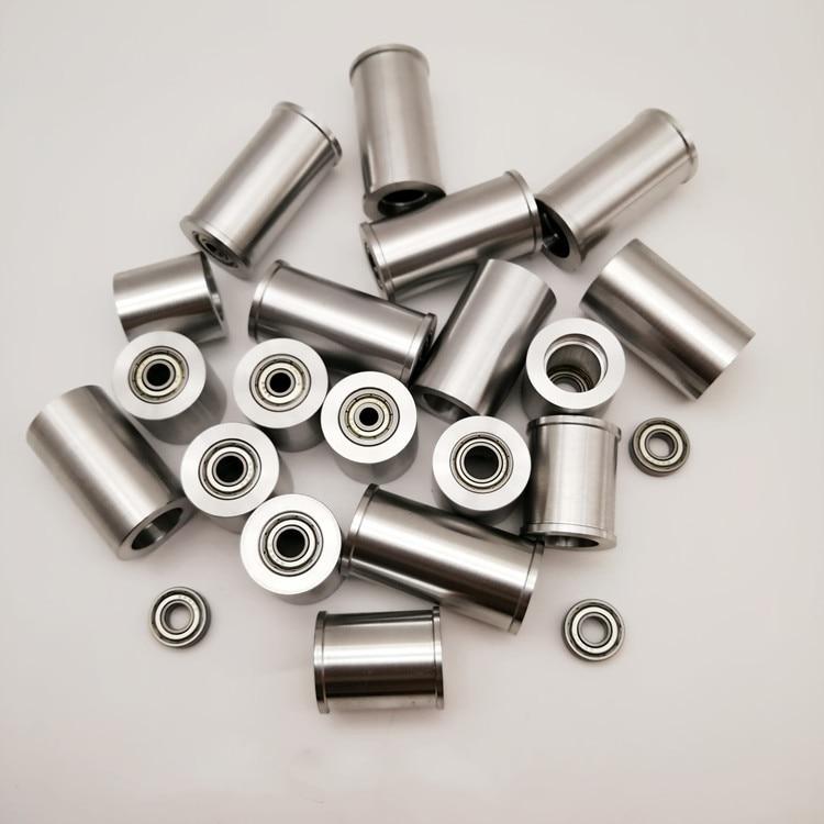 1 Piece Belt Grinder Knife Grinder Contact Wheel Active Wheel Roller Guide Wheel Double Bearing Wheel Fully Aluminum