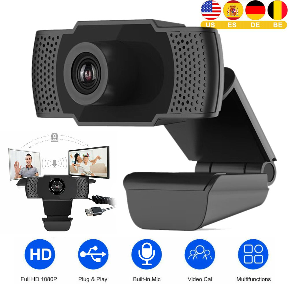 Webcam 1080P PC High Definition Computer Cameras With Built-in HD Microphone Clip-on Digital Video Webcamera Webcam Full Hd