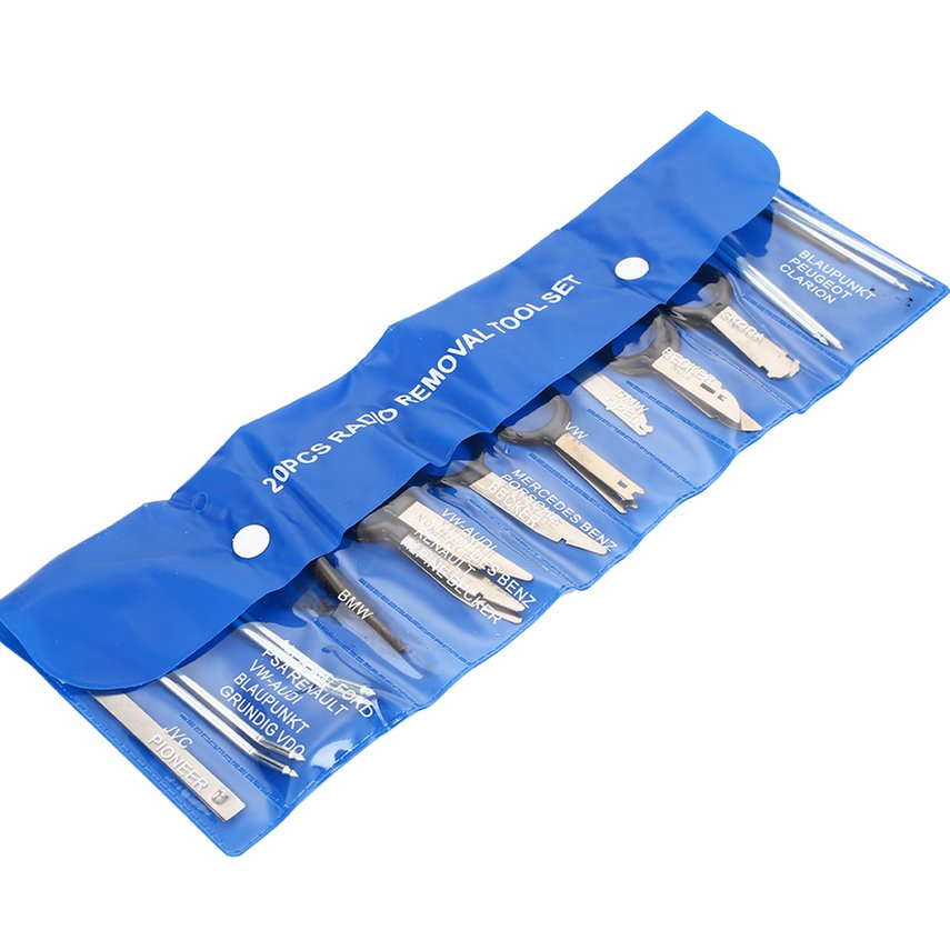 20-piece Car Audio Disassembly Tool DVD Navigation Disassembly Tool  Packet With Blue Plastic Bag