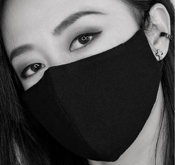 Men Women's windproof thicken 100% cotton mask lady's PM 2.5 filter breathable black punk cotton mouth-muffle R2716