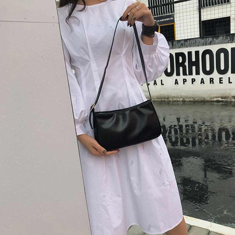 Puimentiui 2019 primavera verano Mujer Moda Verde blanco Correa única bolsos de cuero PU cremallera bolso de hombro bolso de mujer