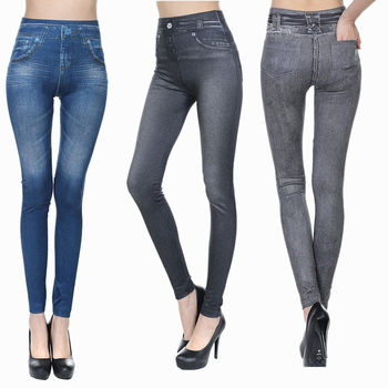 Sexy Seamless Jeggings Jeans For Women High Waist Skinny Push Up Pencil Pants Plus Size S-3XL Stretchy Slim Leggings 1