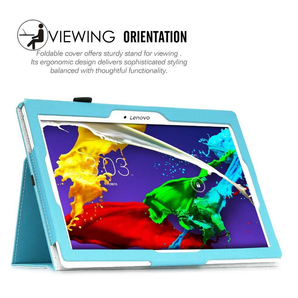 Flip Pu kılıf için Lenovo Tab 2 A10-30 akıllı deri standı kapak için Lenovo Tab 2 A10-70 TB2-X30F TB2-X30L Tablet funda çapa kılıfları