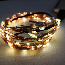 Usb Brass String Dormitory Bedroom Colorful Christmas Light LED Star Net Red Band New Indoor And Outdoors