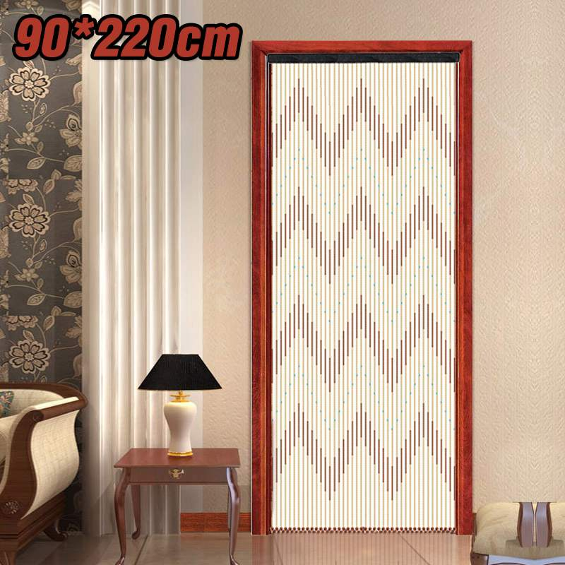 90x220cm de alta qualidade cortina de porta de madeira persianas artesanal tela de mosca contas de madeira sala divisor 31 linha não-tóxico nenhum cheiro