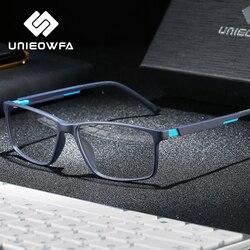 Optical Computer Glasses Frame Men Myopia Anti Blue Light Blocking Eyeglasses Frame Prescription Clear Korea Gaming Eyewear TR90