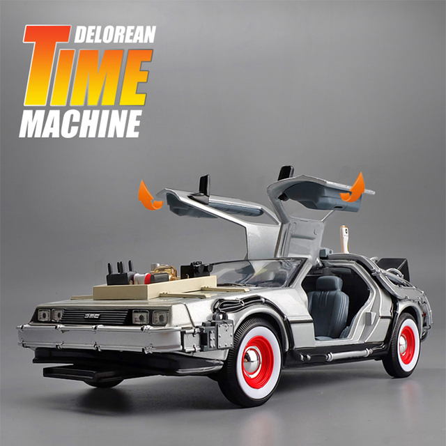 1:24 Mini Model Alloy Die cast Car DMC-12 Back To The Future Pull Back Inertia Metal Diecast Car Collection Gifts Toys for boys 2