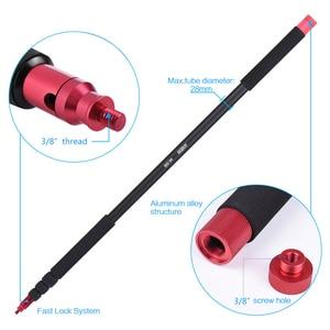 Image 4 - Andoer 3.5 m/11.5 pi enregistrement Microphone support Microphone perche pôle Extension nterview tournage accessoires stéréo vidéo