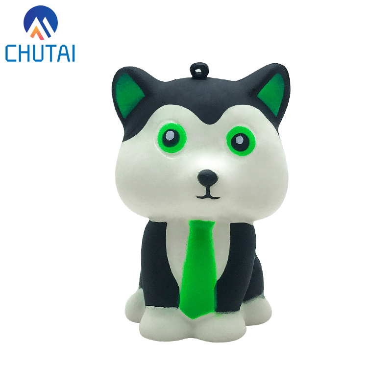 2020 New Arrival Kawaii Cartton Tie Dog Squishy Slow Rising Squeeze Toys For Kids Baby Decompression Toys 8.5*5 CM
