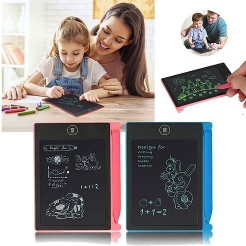 8.5 Polegada placa de desenho eletrônico lcd tela escrita tablet digital gráfico de desenho comprimidos eletrônico placa almofada escrita + caneta 2