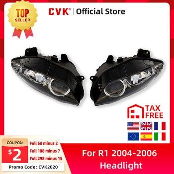 цена на CVK Motorcycle Headlight Headlamp Head Light For YAMAHA YZF 1000 R1 2004 2005 2006 YZF-R1 04 05 06 Head Lamp Headlight assembly