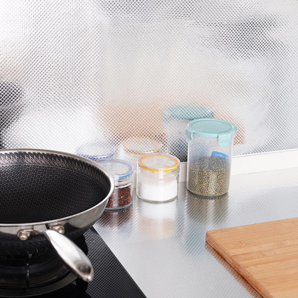 Водостойкая термостойкая самоклеящаяся Настенная Наклейка для домашней кухонной плиты, 40*100 см, маслостойкая Настенная Наклейка для кухонн...