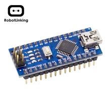 Płytka Nano CH340 ATmega328P bez kabla USB kompatybilna z Arduino Nano V3 0 (bez kabla) tanie tanio ROBOTLINKING Nowy Regulator napięcia UNO NANO 0℃-35℃ 7-12 V CH340G A0 ~ A7 TX RX D2 ~ D13 D3 D5 D6 D9 D10 D11