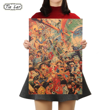 Cartel decorativo TIE LER Vintage Anime carteles de personajes sala de estar pintura decorativa café etiqueta engomada de papel kraft 51x35,5 cm