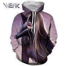 WSFK men and women anime cartoon hoodies sweatshirt winter hoodie 3D printing Tokyo cannibal