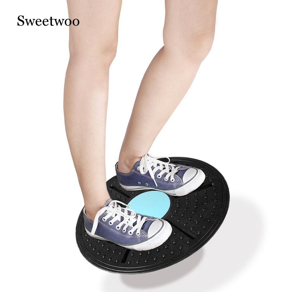 Balance Board 360 Degree Rotation Massage Disc Round Plates Board Gym Waist Twisting Exerciser Load-bearing 160kg Random Color
