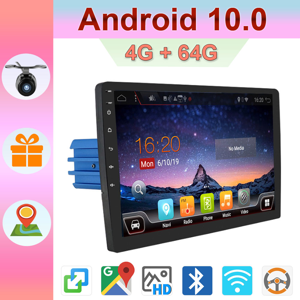 Авто android 10,0 Автомагнитола с gps-навигации Центральный multimidia 4G Оперативная память + 64G Встроенная память 1din dvd помощи при парковке BT Wi-Fi AUX RDS