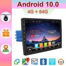 Autoradio android 10.0 autoradio avec gps navigation centrale multimidia 4G RAM + 64G ROM 1din dvd automotivo BT Wifi AUX RDS