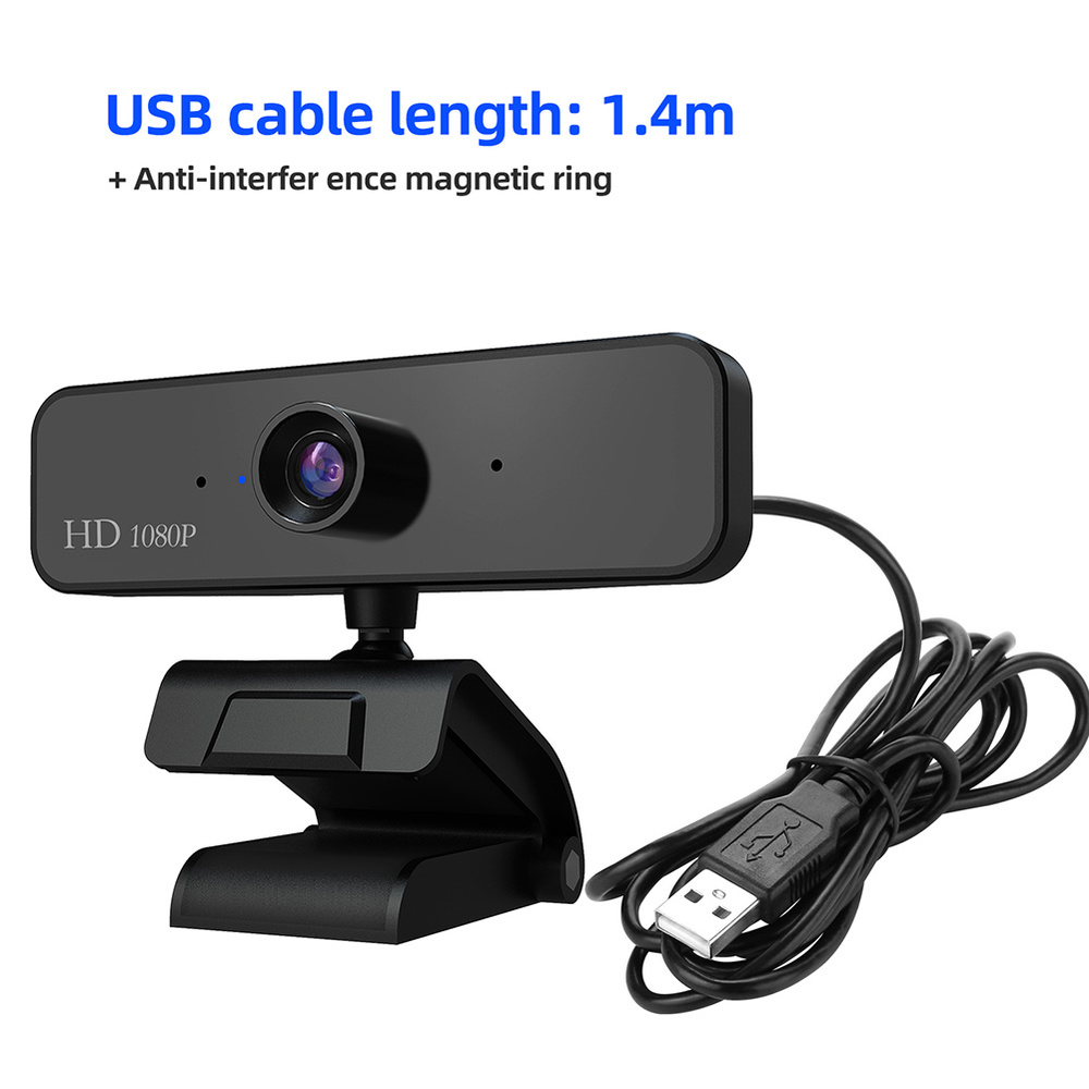 480P/720P/1080P USB Webcam for Video Calling/Recording with Auto White Balance/Color Correction 2
