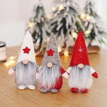 Christmas Faceless Doll Ornament Nordic Land God Santa Claus Window Decoration
