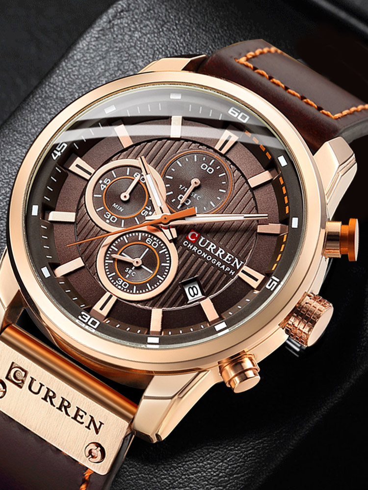 Male Clock Watches Chronograph Date Sport Hodinky Mens Luxury CURREN Top-Brand Fashion