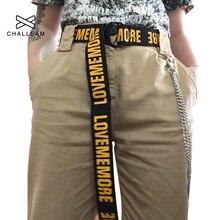Love Me More женский ремень Харадзюку с красным буквенным принтом модный мужской ремень из парусины с двойным d-образным кольцом женские длинные ремни для джинсов 103