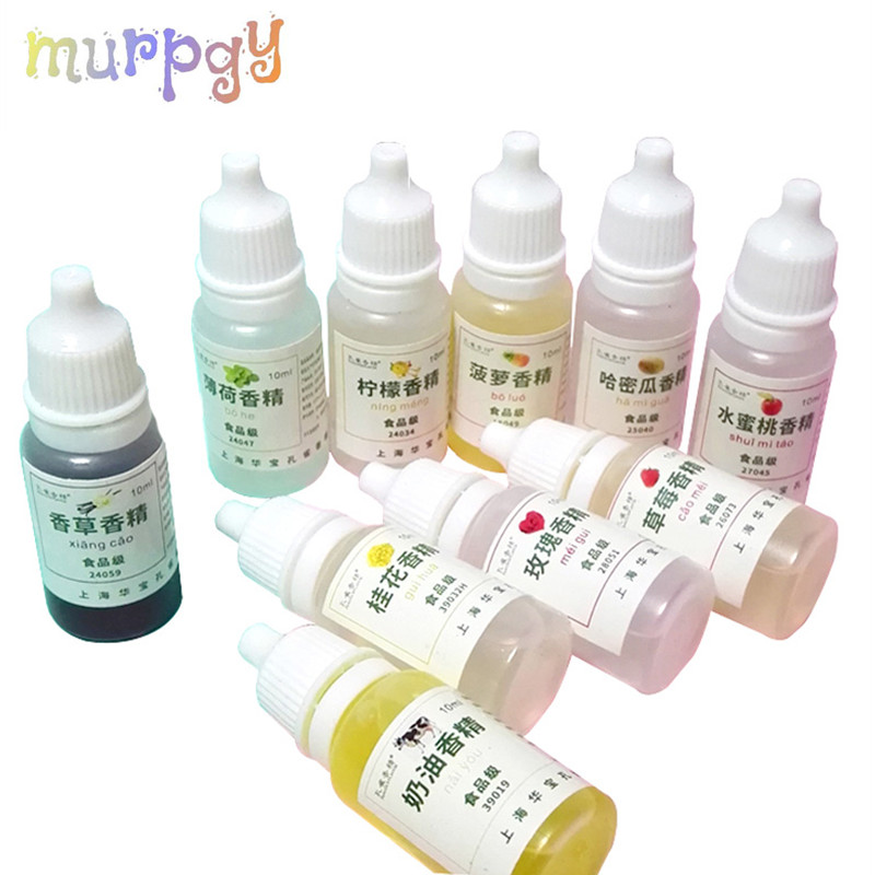 10ml Diy Flavor For Slime Supplies Clay Toys For Children Kids Liquid Accessories For Make Slime Flavors Charms Kits Smell Slice