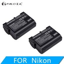 2 pièces EN-EL15 EN EL15 ENEL15 7V 2500mAh batterie pour REFLEX NUMÉRIQUE Nikon D600 D610 D800 D800E D810 D7000 D7100 D7200 l15