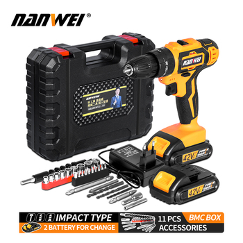 Impact Cordless Screwdriver Cordless Drill Impact Electric Drill Power Tools Hammer Drill Electric Drill Hand impact drill stavr du 13 650 m