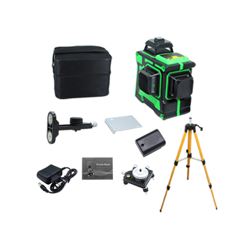 BIGGRIT B 3D 12 Green Lines Laser Level Thick Lines Self-Leveling 360 Horizontal And Vertical Cross Super Powerful Laser Beam