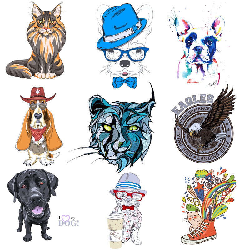 Cartoon Animal Hot-printing And Heat-transfer Printing Pattern, DIY, Cute Little Dog's Clothes, Patch And Ironing Decorative