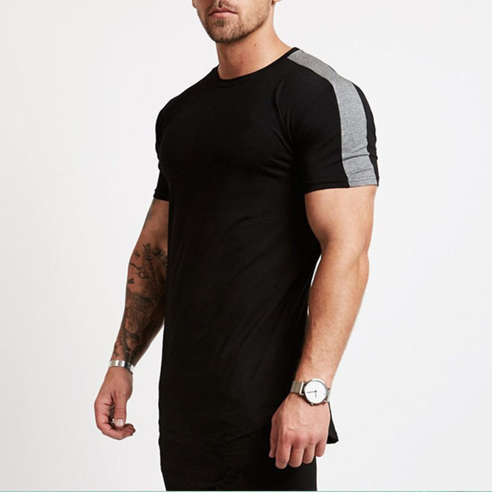 Gym Fitness Tshirt Men Bodybuilding Workout Skinny T-shirt Male Cotton Sport Tee Shirt Tops Summer Casual Short Sleeve Clothing