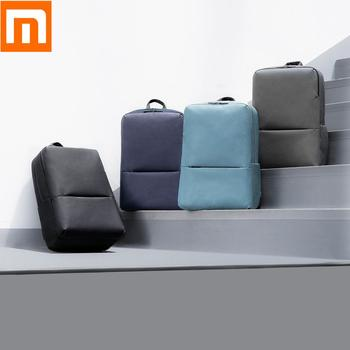 Nowy Xiaomi plecak klasyczny plecak biznesowy 18L wodoodporna 5 6 cal torba na laptopa torba na ramię torba Unisex odkryty podróży tanie i dobre opinie Xiaomi Backpack 18L 2 KANAŁY Mijia Casual Business Backpack Original Xiaomi Mi Classic Business Backpack 2 Gotowa do działania