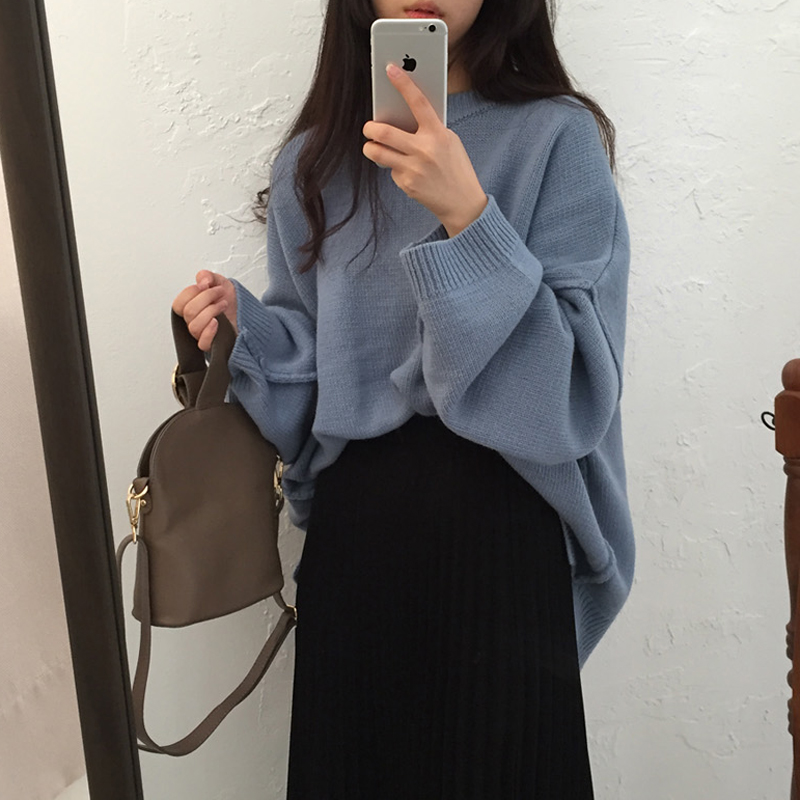 Winter Clothes Women Sweater Korea High Quality Thick Vintage Long Sleeve Sweater Autumn Loose Casual Sweater Pullover Women