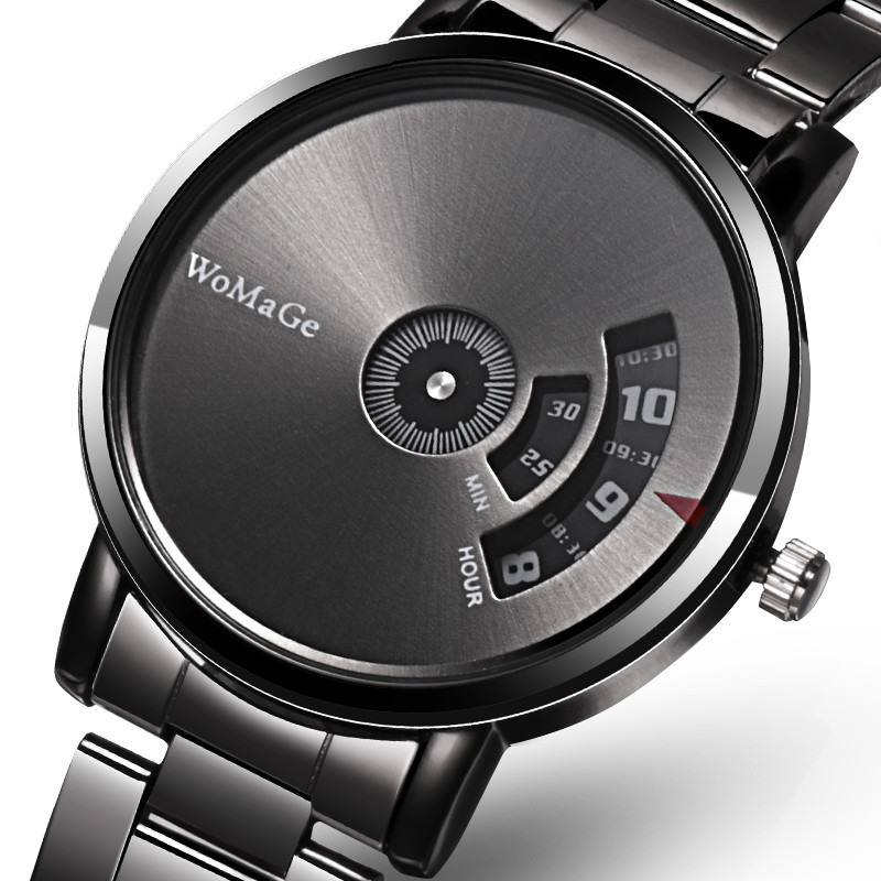 Relogio Masculino Top Brand Luxury Men Watches Stainless Steel Quartz Watch Unique Watches Mens Turntable Business Male Clock