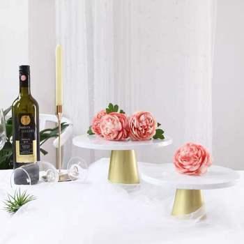 Stojak na babeczki metalowy stół deserowy wysoka taca na ciasto świąteczne przyjęcie urodzinowe Macaron chrzest Babyshower tanie i dobre opinie stojaki CN (pochodzenie) CE UE Lfgb Ekologiczne Na stanie Cake stand 2020 Macaron Tower Cake Stand For Wedding Cake Cake Stands Cucake