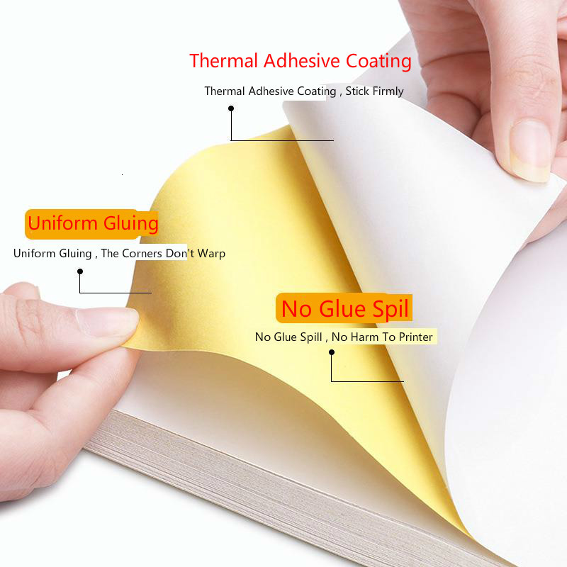 100 Sheets A4 200sheets A3 Laser Inkjet Printer Copier Craft Paper White Self Adhesive Sticker Label Matte Surface Paper Sheet