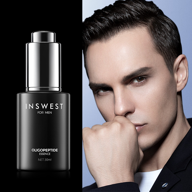 INSWEST 30ml Men Oligopeptide Acne Cleaning Serum Acne Treatment Lotion Moisturizing Repair Whitening Facial Essence Skin Care