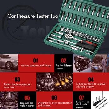 цена на 46Pcs Car Repair Tool Spanner Socket Set 1/4 Inch Screwdriver Ratchet Wrench Car Repair Tools Gereedschap Kit Auto Repairing