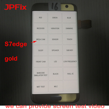 Assembly Display Frame-Strip Digitizer G935A AMOLED S7-Edge Samsung Galaxy Touch-Screen