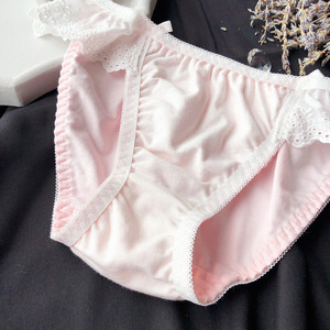 Image 5 - Wriufred Comfortabele Meisje Kant Sexy Brasserie Vintage Katoen Randloze Vest Beha Set Leuke Boog Ondergoed Plus Size Lingerie Sets