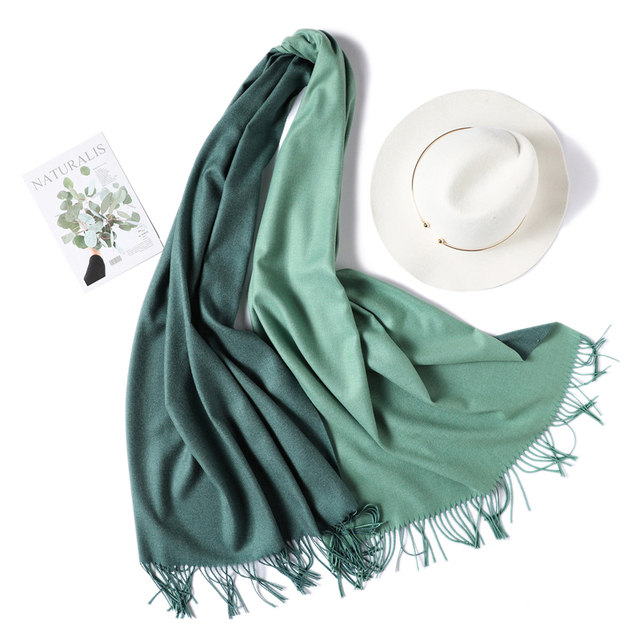 Winter Scarf Double Side Colors Lady Cashmere Scarves Pashmina Shawls Wraps Warm Bandana Hijabs