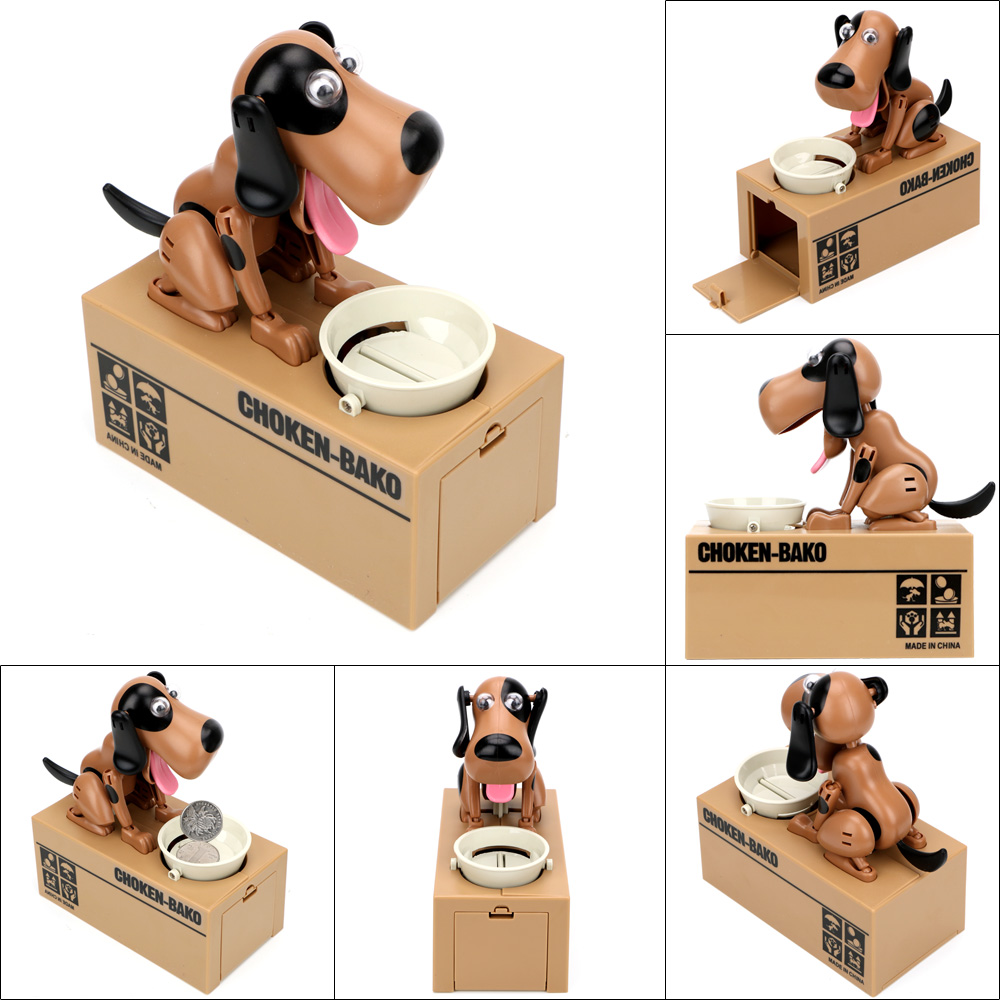Money Saving Box Cartoon Robotic Dog Steal Coin Bank Electronic Piggy Banks Home Decor Automated Money Boxes Plastic Kids Gift