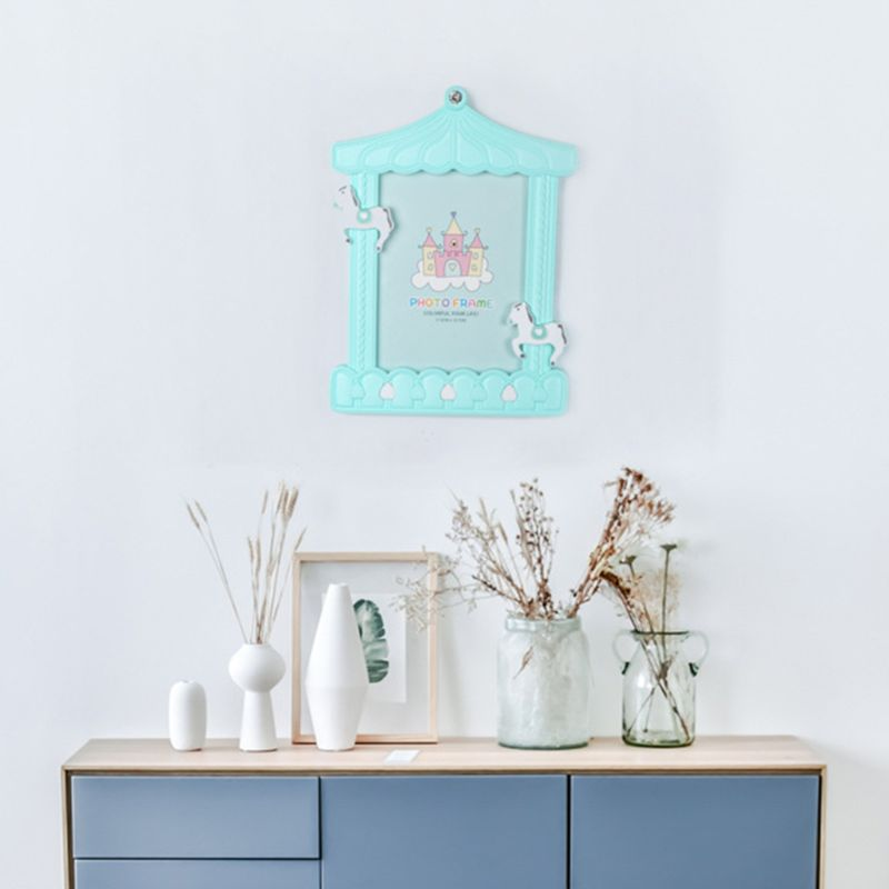 Creative Baby Cartoon Trojan Photo Frame Kids Birthday Gift Picture Holder Desktop Home Decoration Family Ornament